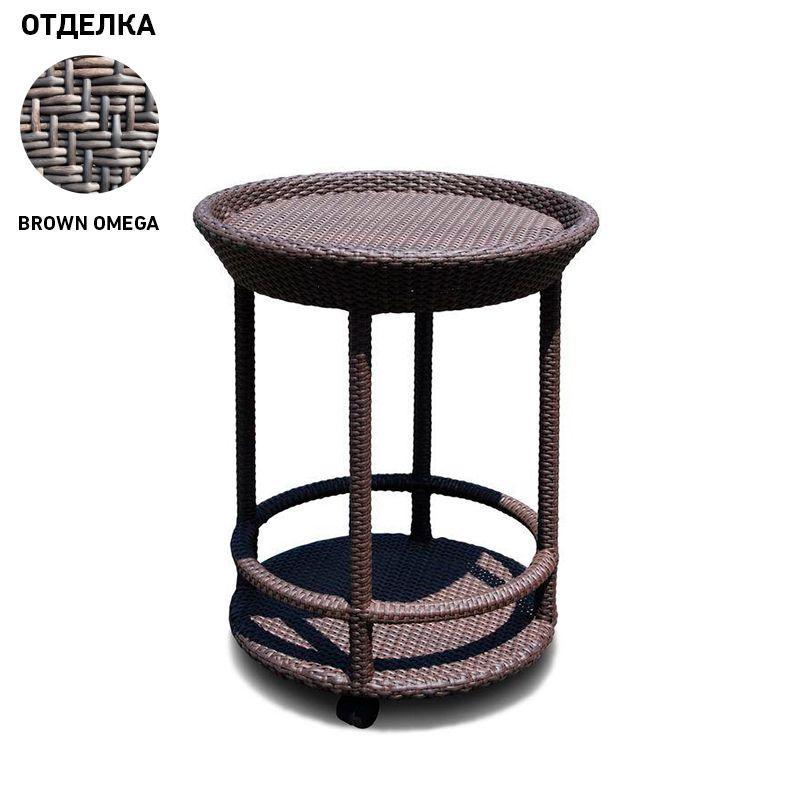 Сервировочный столик на колесиках Cally Brown Omega