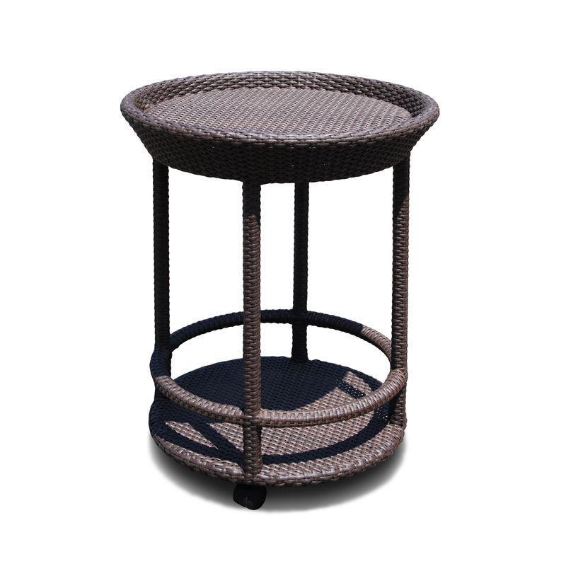 Сервировочный столик с плетением из искусственного ротанга Cally