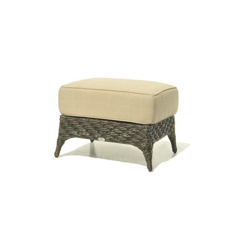 Пуф из плетеного ротанга с мягким сиденьем Celeste