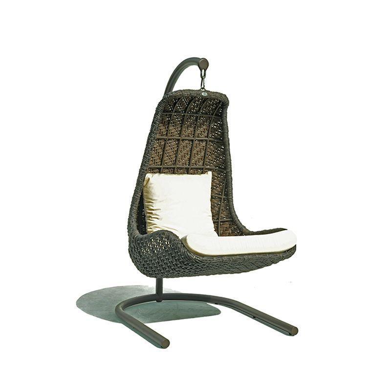 Одинарное подвесное кресло на стойке Celeste Brown Omega