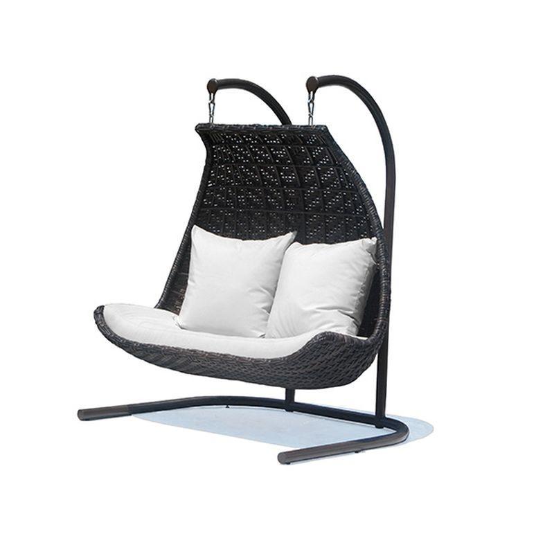 Кресло подвесное на стойке двойное Celeste Brown Omega