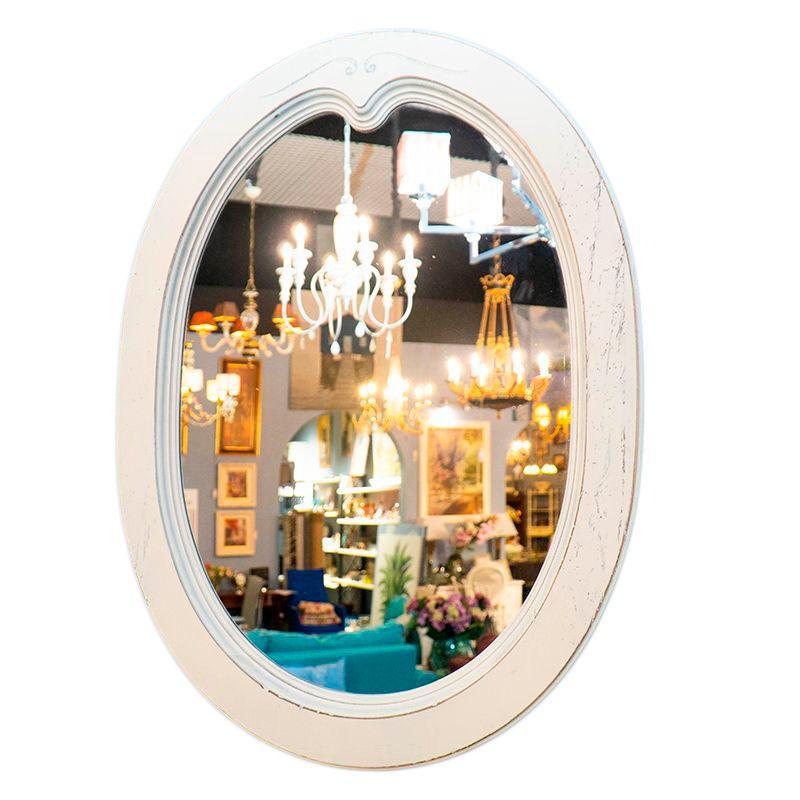 Зеркало белое деревянное Capanni