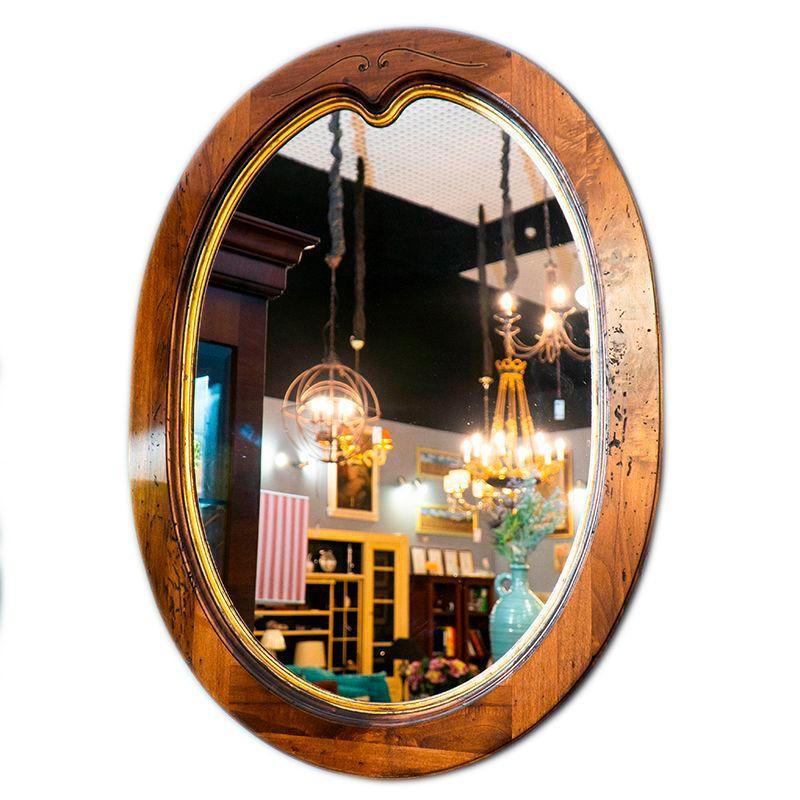 Зеркало коричневое деревянное Capanni