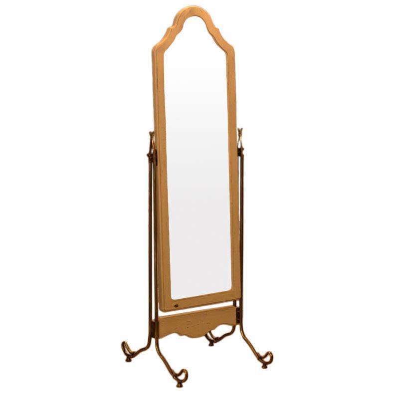 Зеркало напольное из антикварного дерева