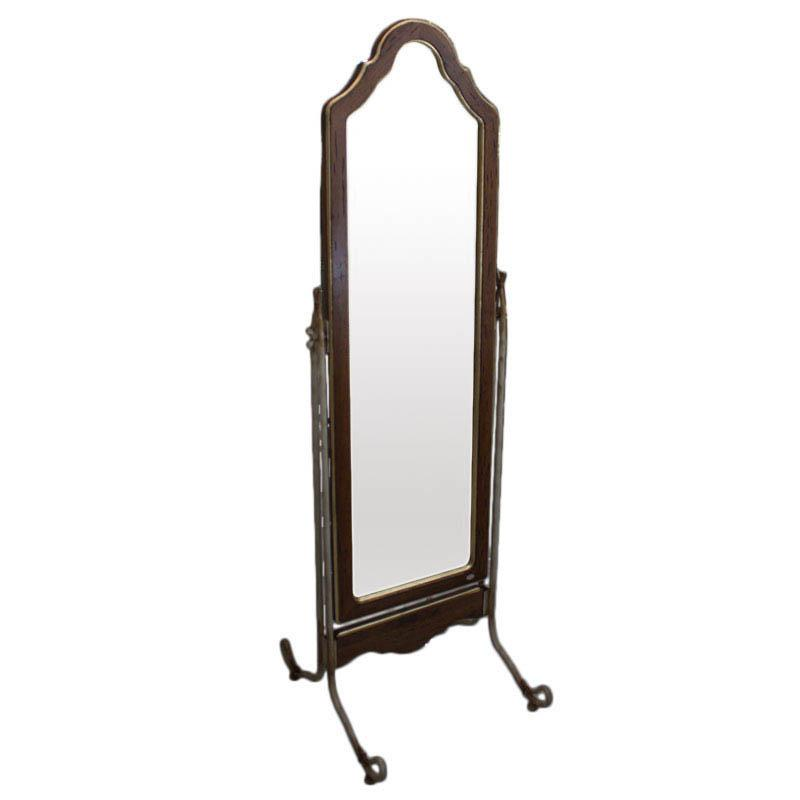 Зеркало с резной рамой из антикварного дерева