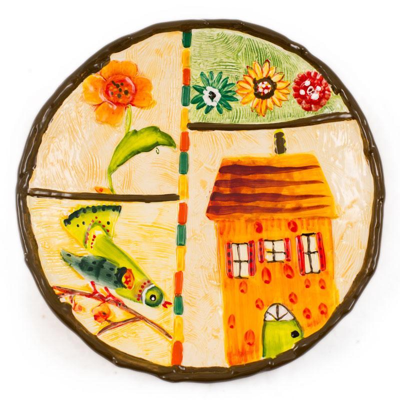 Тарелка десертная с весенними сюжетами Spring