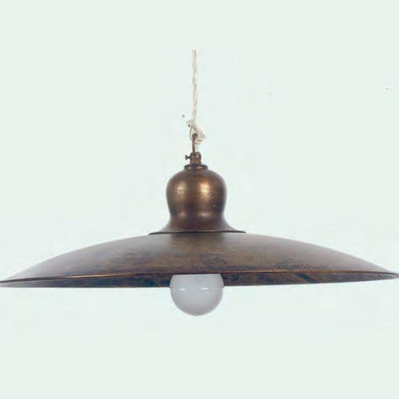 Металлическая люстра-подвес в стиле стимпанк