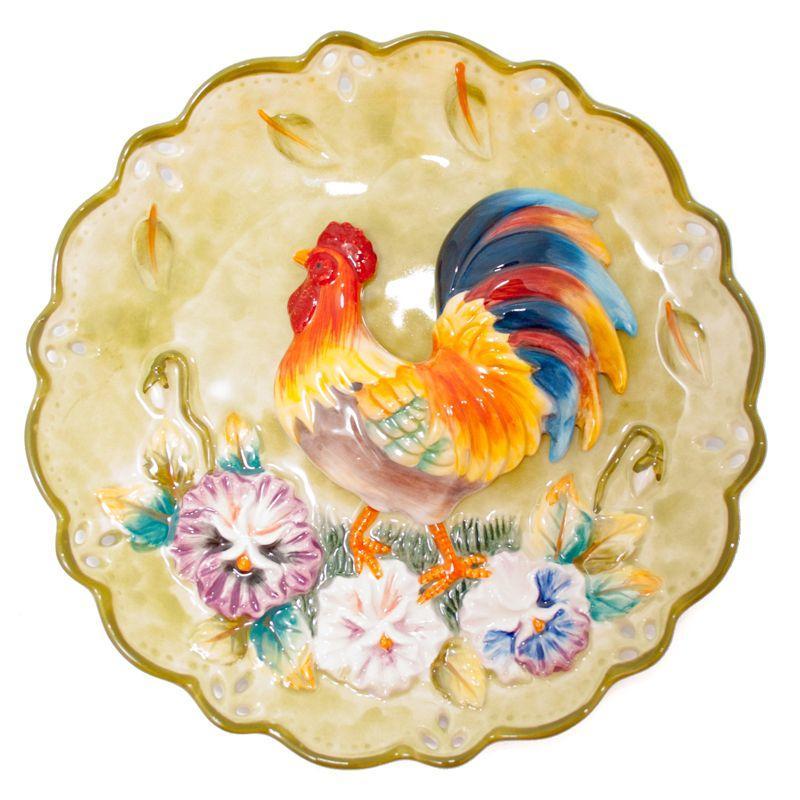 Тарелка декоративная Петушок
