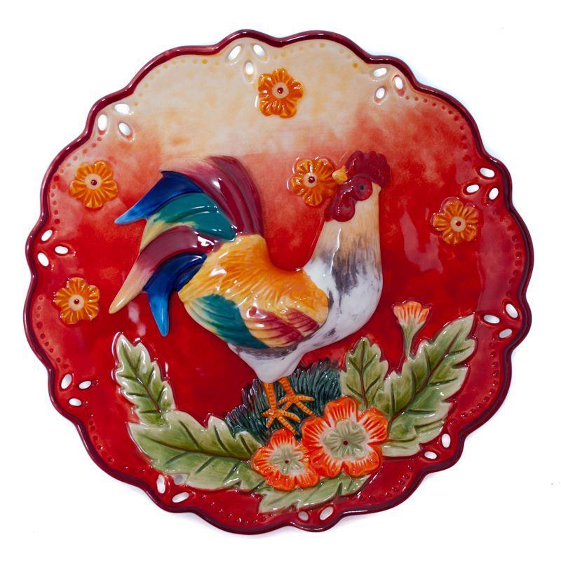 Тарелка декоративная Петух