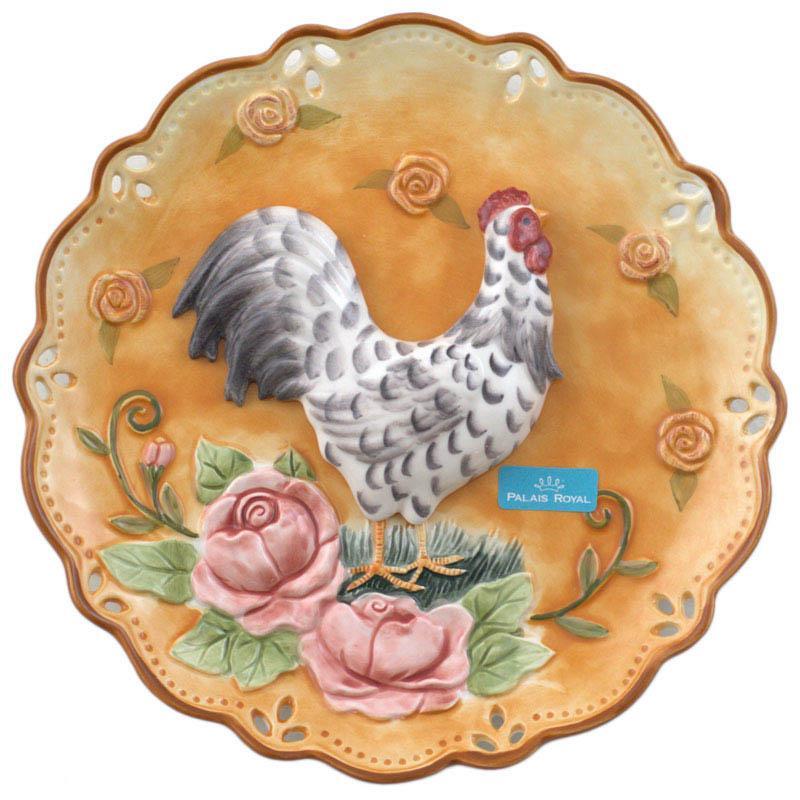 Декоративная тарелка с петухом