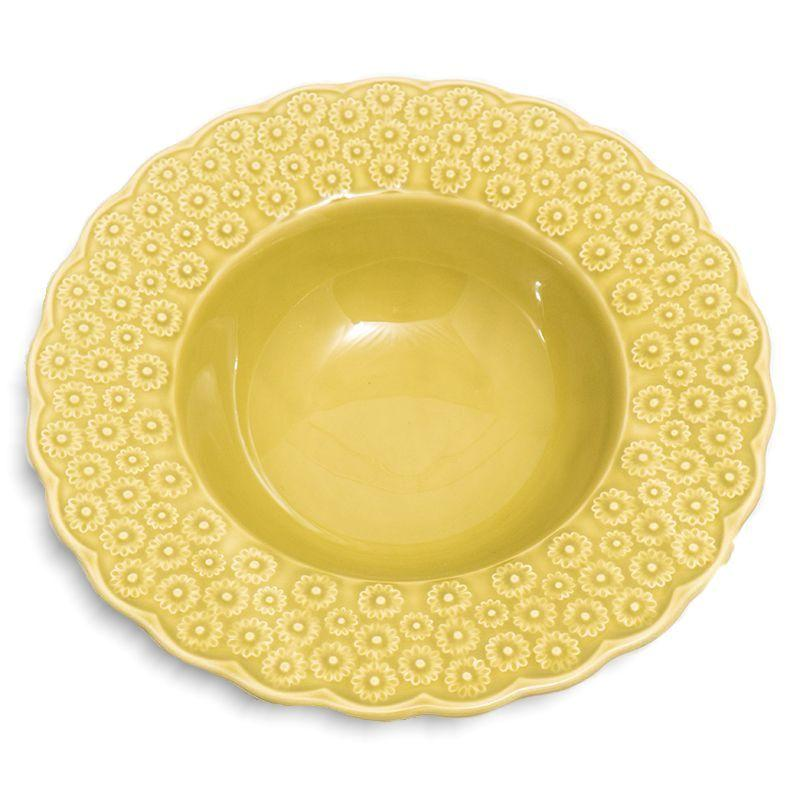 """Суповая тарелка с рельефным цветочным декором """"Ромашки"""""""