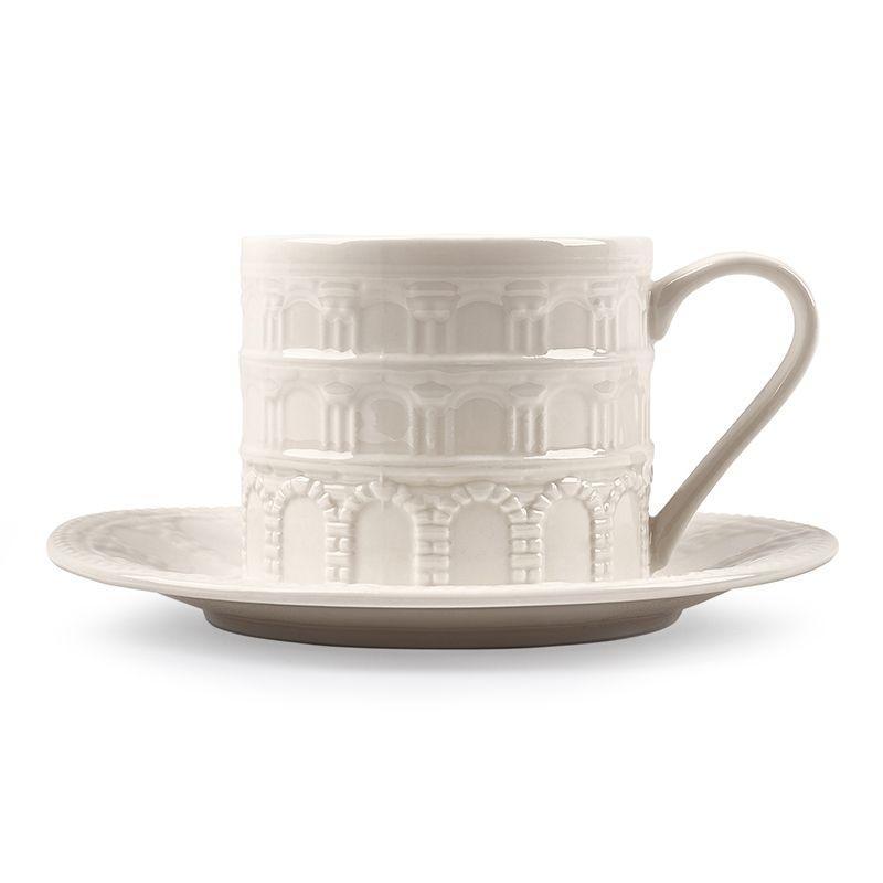 """Чашка чайная белая """"Истории города"""""""