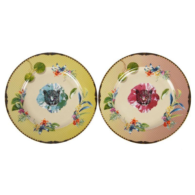 Набор из 2-х десертных тарелок с цветами Ete Savage