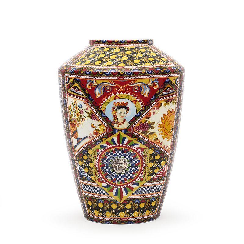 Ваза из фарфора с этническим дизайном Santa Rosalia
