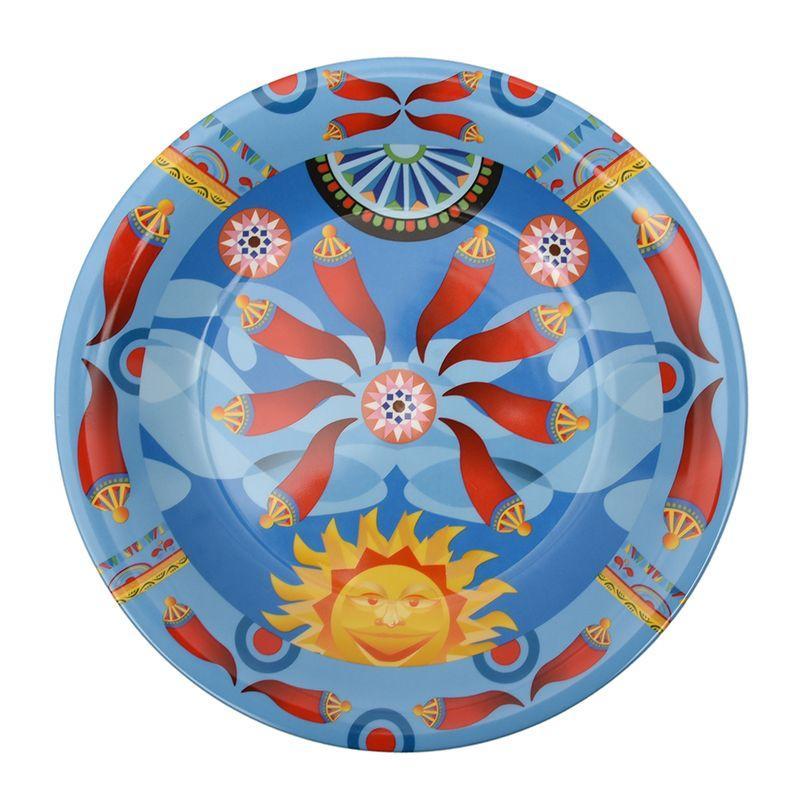 Салатник голубого цвета с абстрактным узором Mediterraneo