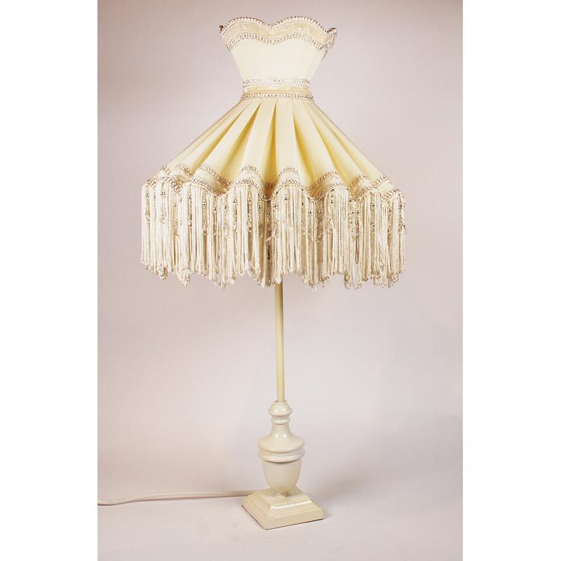Настольная лампа с абажуром с бахромой Zandbergen Decoraties BV