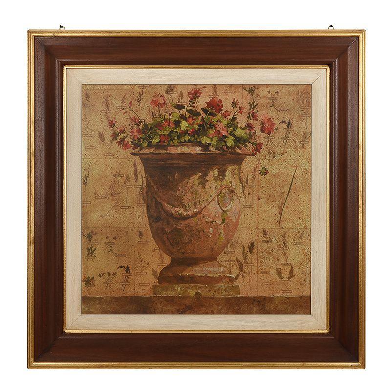 """Репродукция картины """"Ваза и красные цветы"""" Pascal Cessou"""