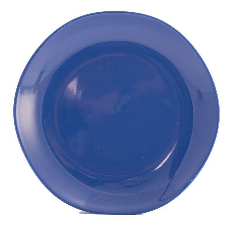 Тарелка обеденная синяя Ritmo