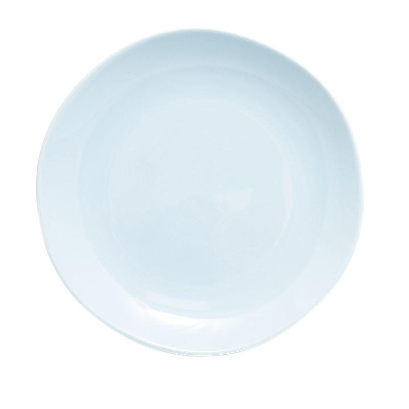 Керамическая обеденная тарелка голубого цвета Ritmo