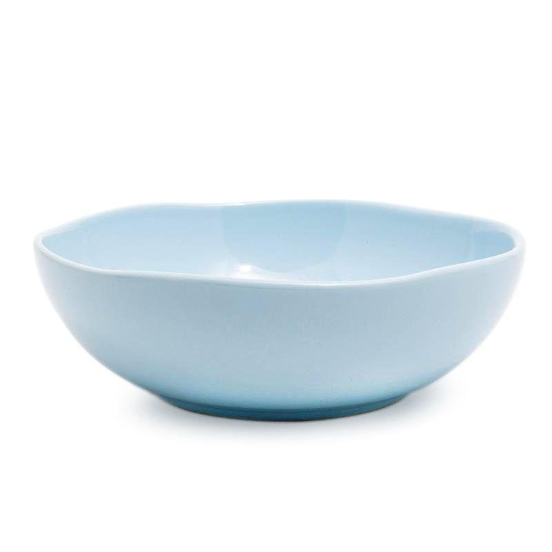 Голубой керамический салатник Ritmo