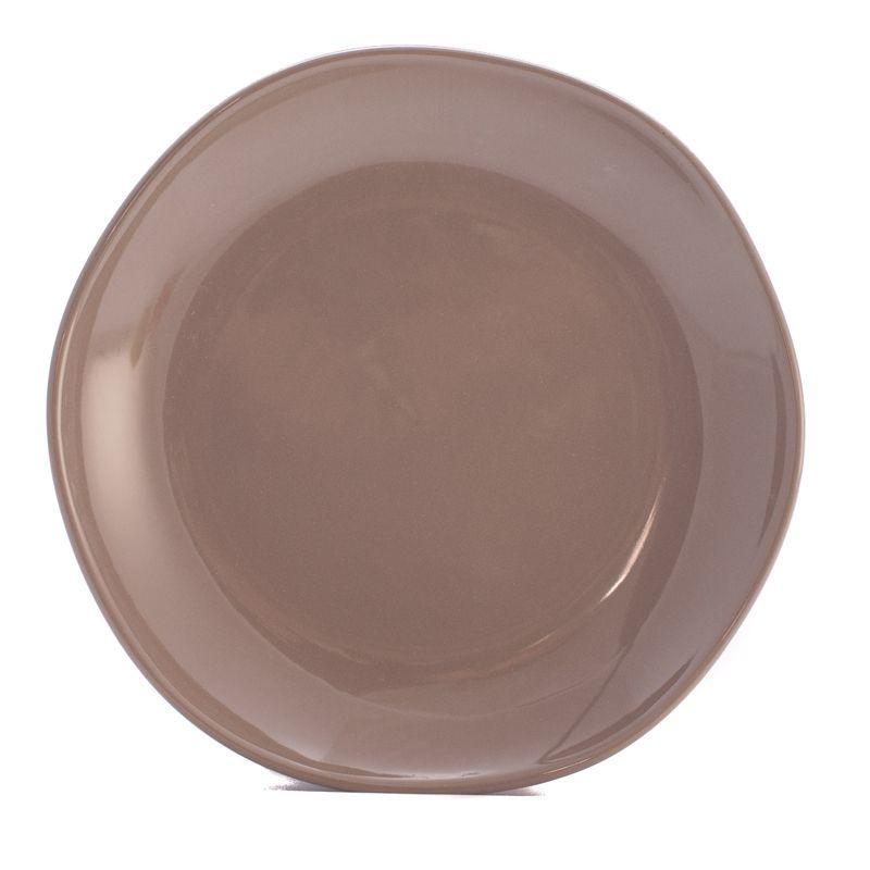 Тарелка десертная коричнево-серая Ritmo