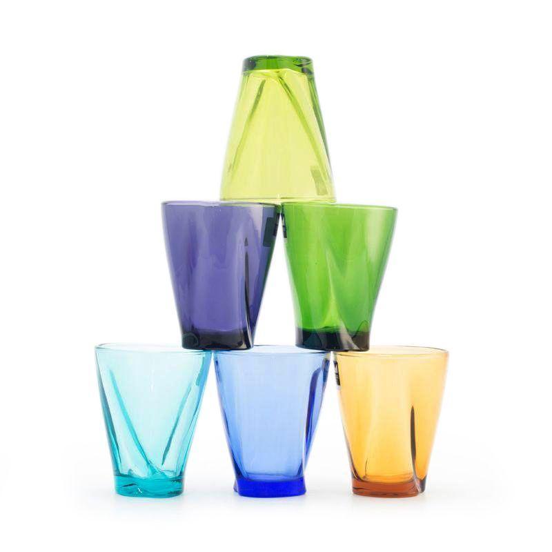 Набор из 6-ти разноцветных стеклянных стаканов Lui&Lei