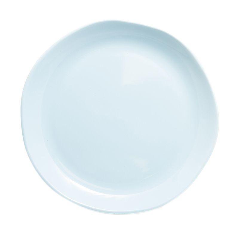 Голубое керамическое блюдо Ritmo