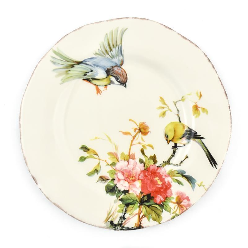 "Тарелка десертная с изображением птиц и цветов ""Весна"""