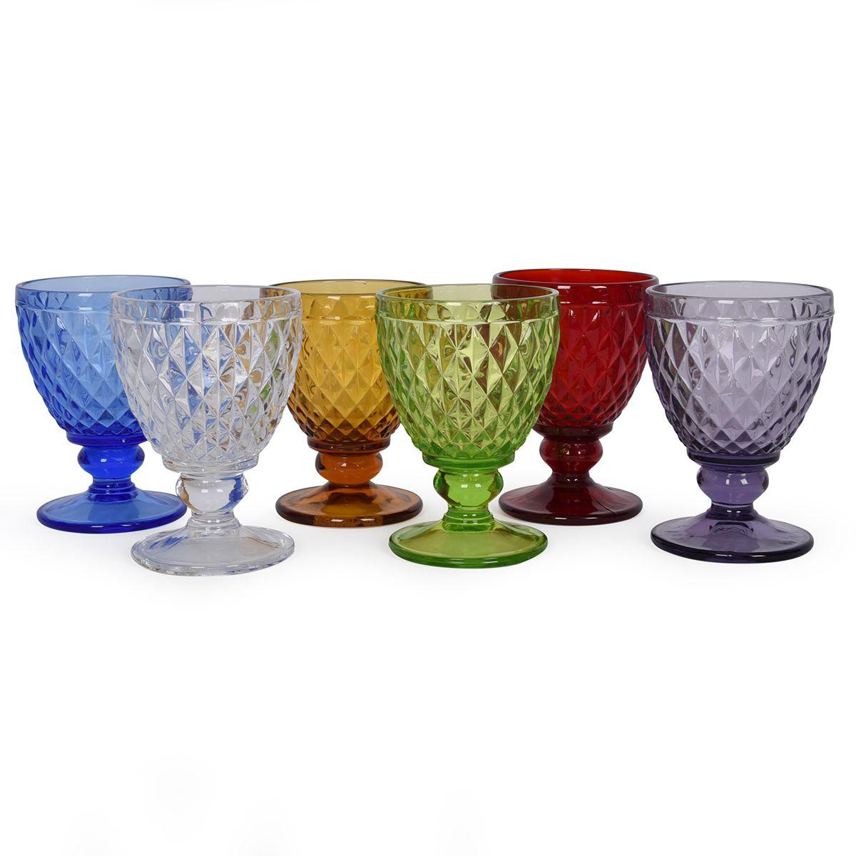Набор разноцветных бокалов для вина Toscana Maison, 6 шт