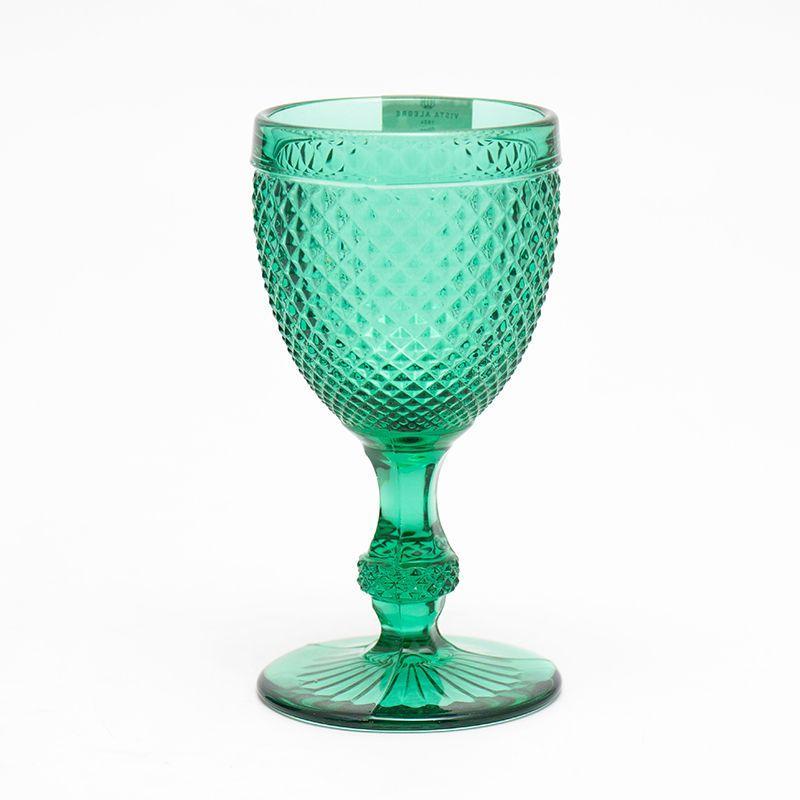 Набор из 4-х бокалов для вина зеленого цвета Vista Alegre