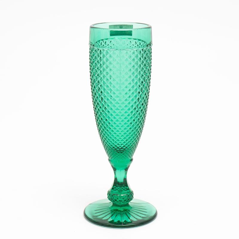 Набор из 4-х бокалов для шампанского зеленого цвета Vista Alegre
