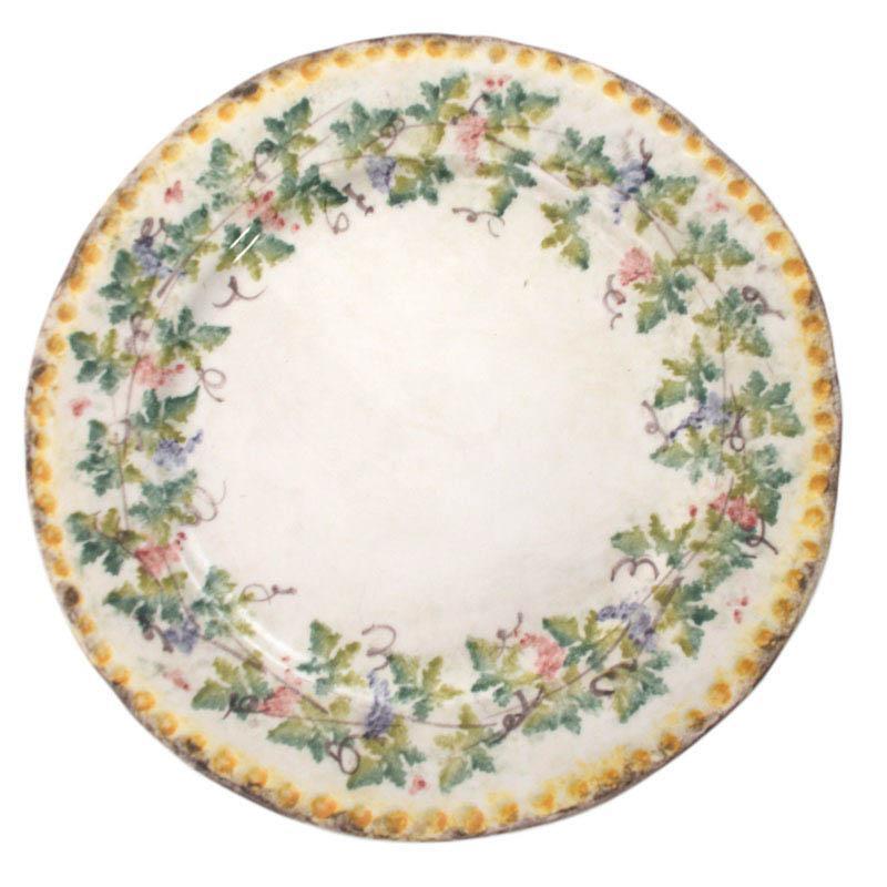 """Тарелка обеденная из итальянской керамики """"Амуры"""""""