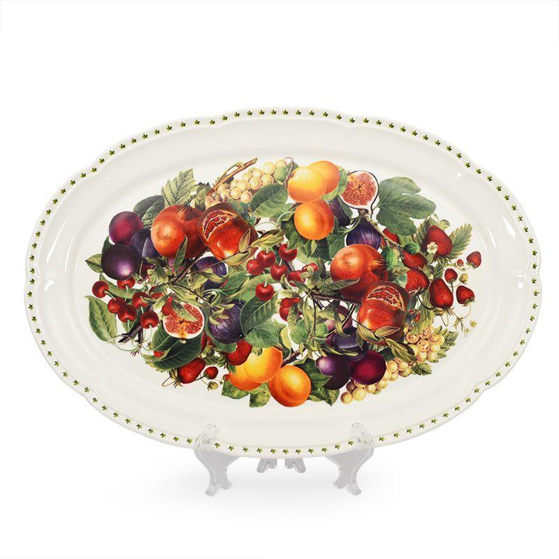 Овальное блюдо с богатым фруктовым узором Le Primizie