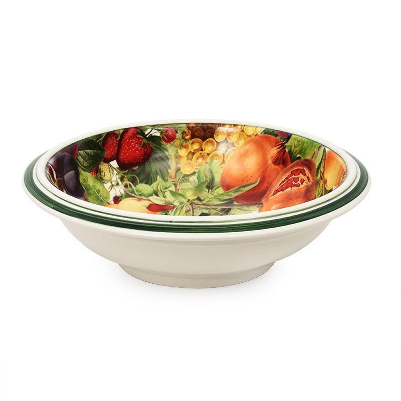 Круглое глубокое блюдо из керамики с рисунком Le Primizie