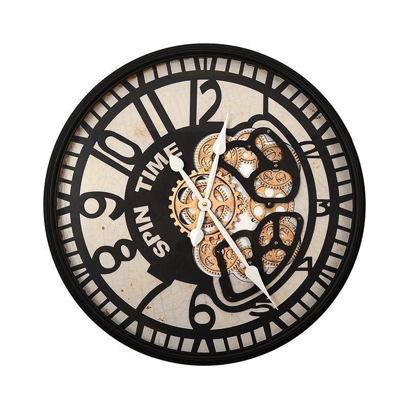 Часы с открытым механизмом в стиле сюрреализма