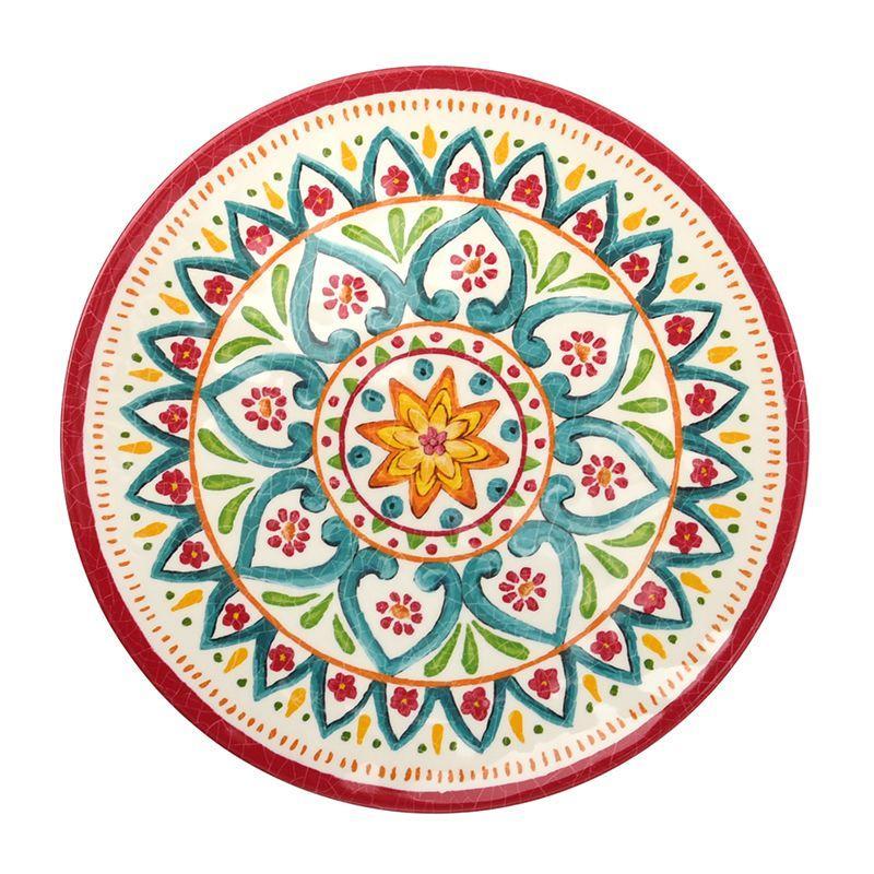 Тарелка обеденная из меламина с эффектом кракелюра Maya