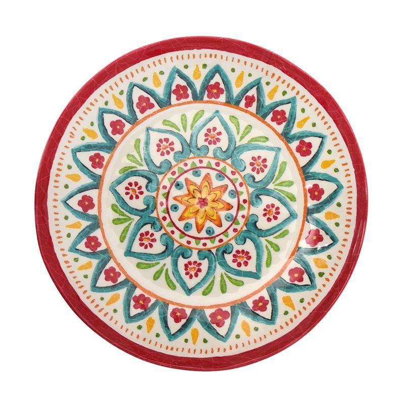 Суповая тарелка из меламина с колоритным орнаментом Maya