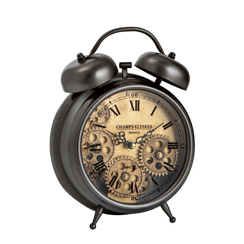 Настольные часы-будильник со стеклянным циферблатом