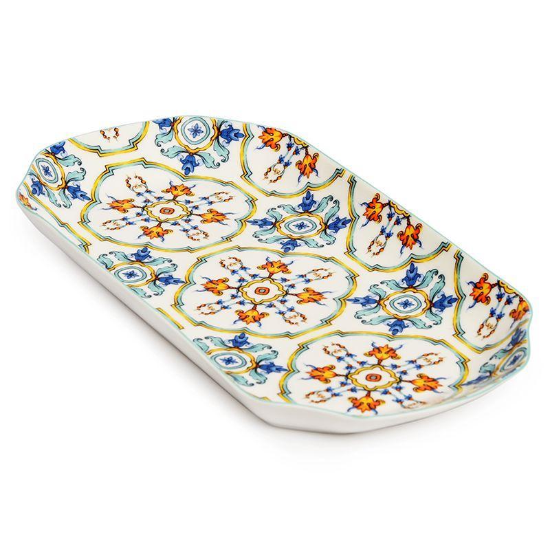 Блюдо прямоугольное с ярким орнаментом Medicea