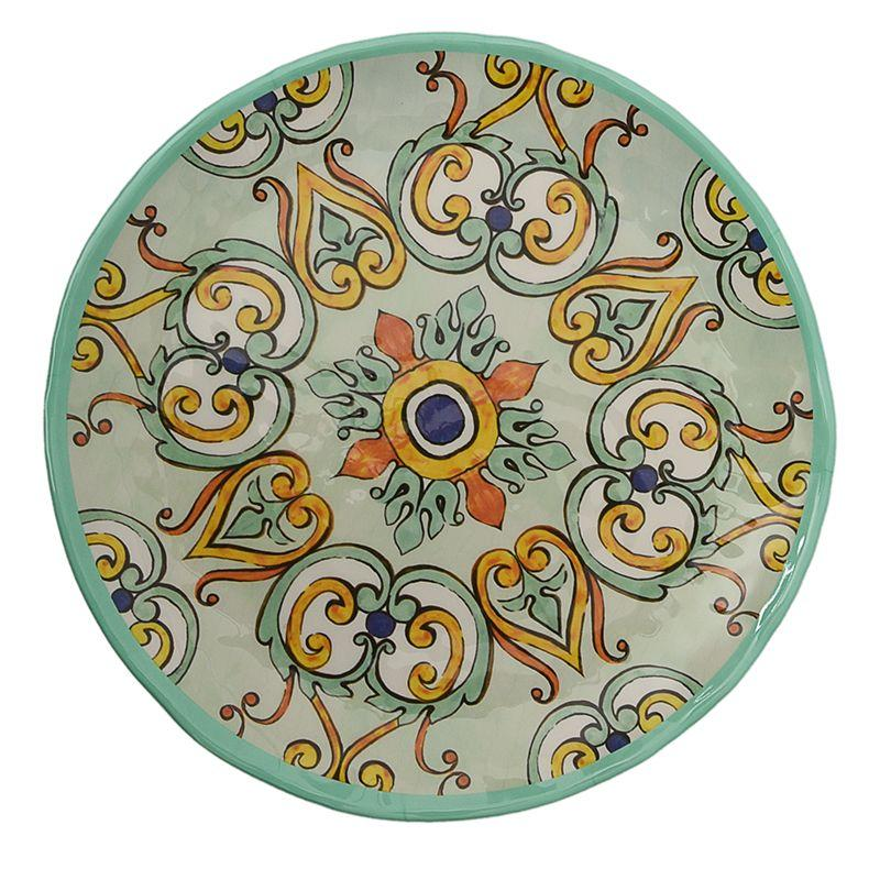 Тарелка обеденная из меламина с орнаментом Medicea
