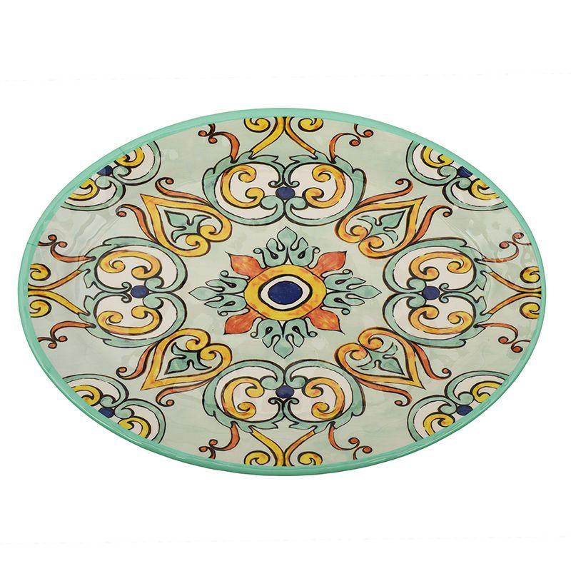 Блюдо овальное из меламина бирюзового цвета Medicea