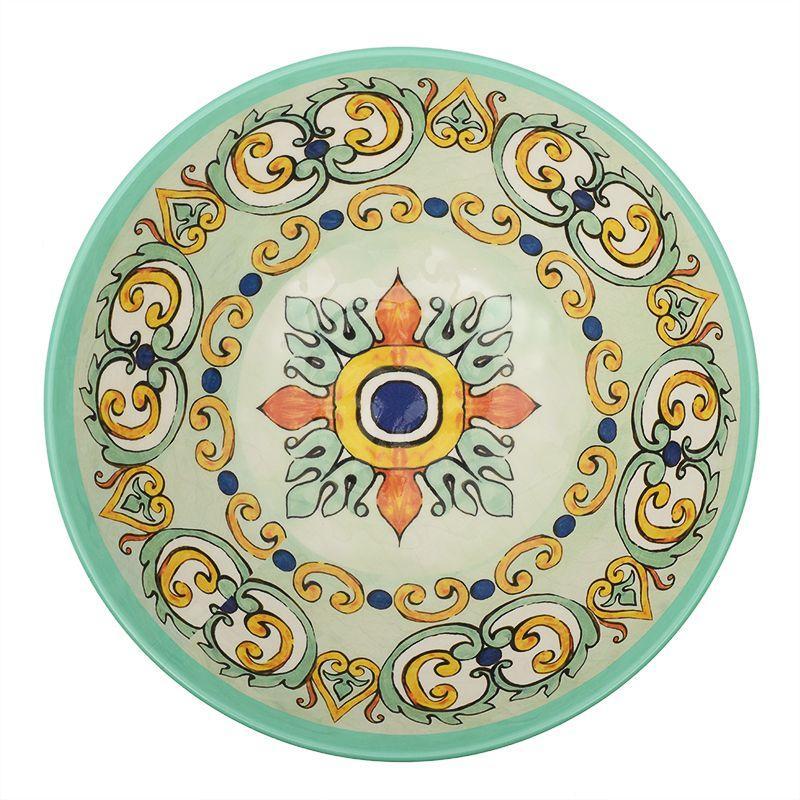 Глубокий меламиновый салатник бирюзового цвета Medicea