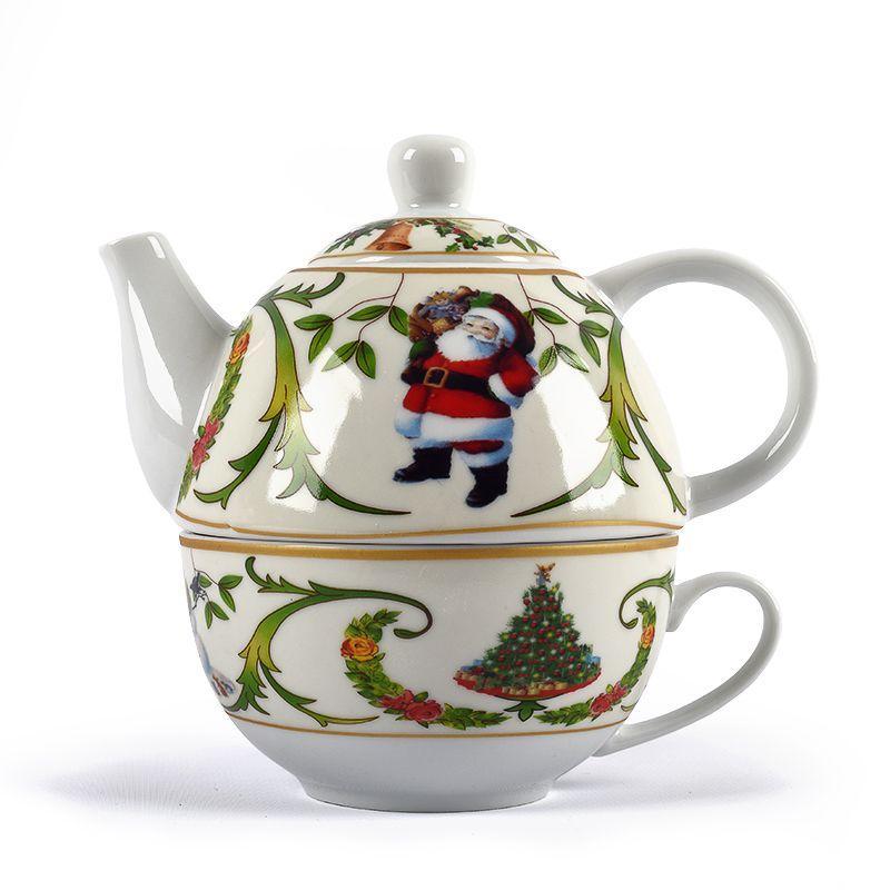 Чайный набор Christmas Maison, чашка с заварником