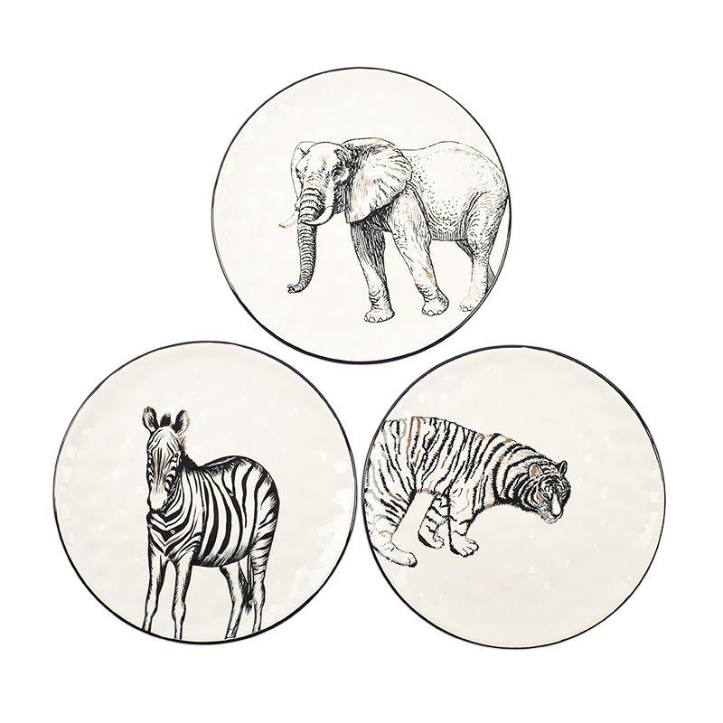 Набор керамических обеденных тарелок Masai 3 шт.