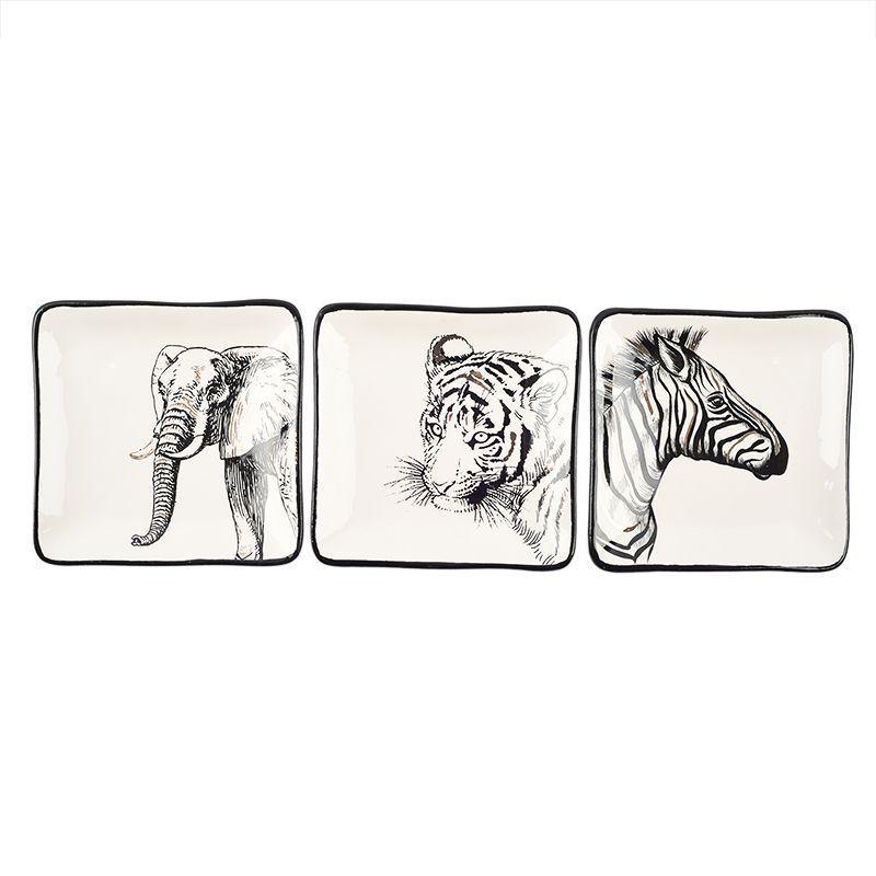 Комплект квадратных небольших тарелок Masai 3 шт.
