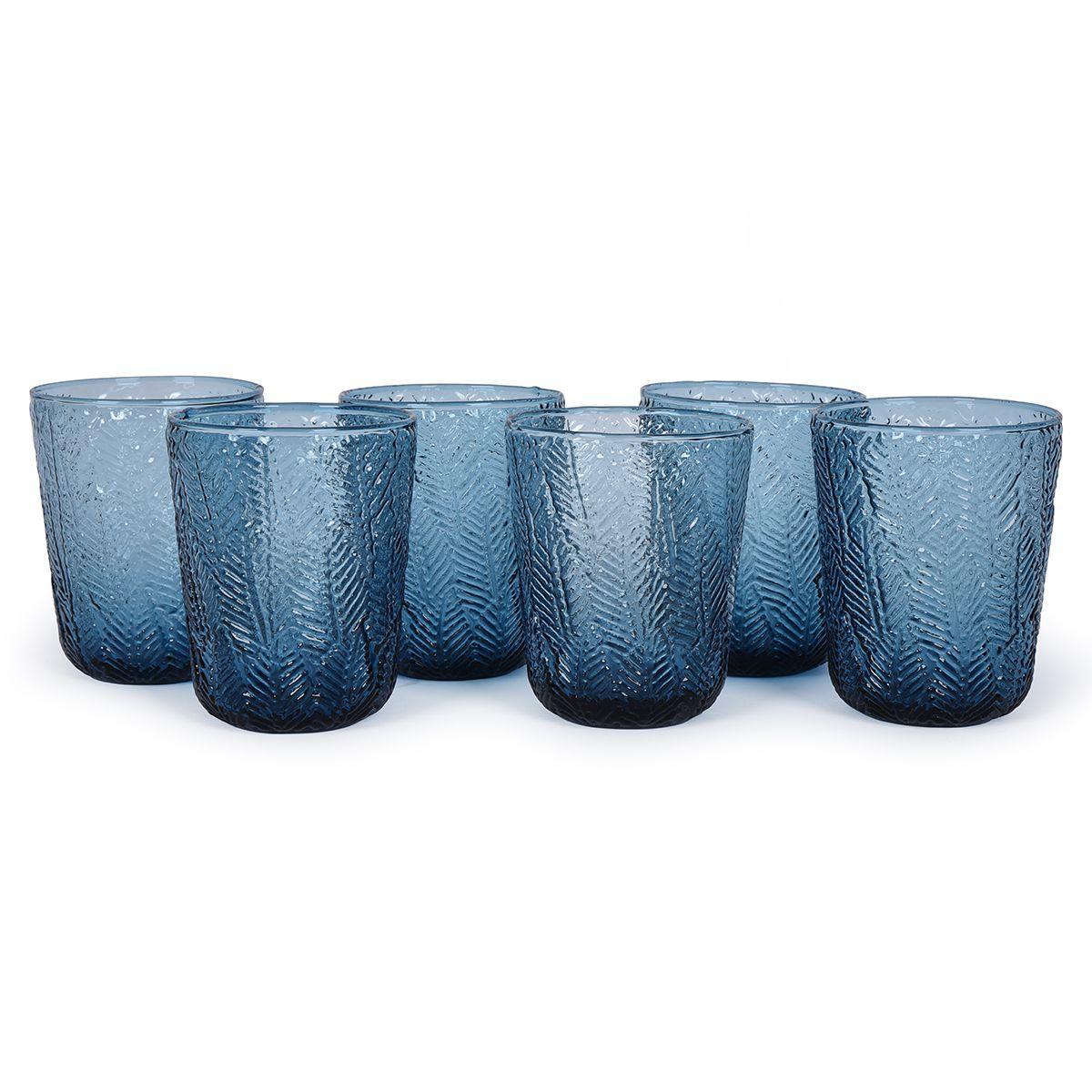 Набор из 6-ти синих стеклянных стаканов Montego