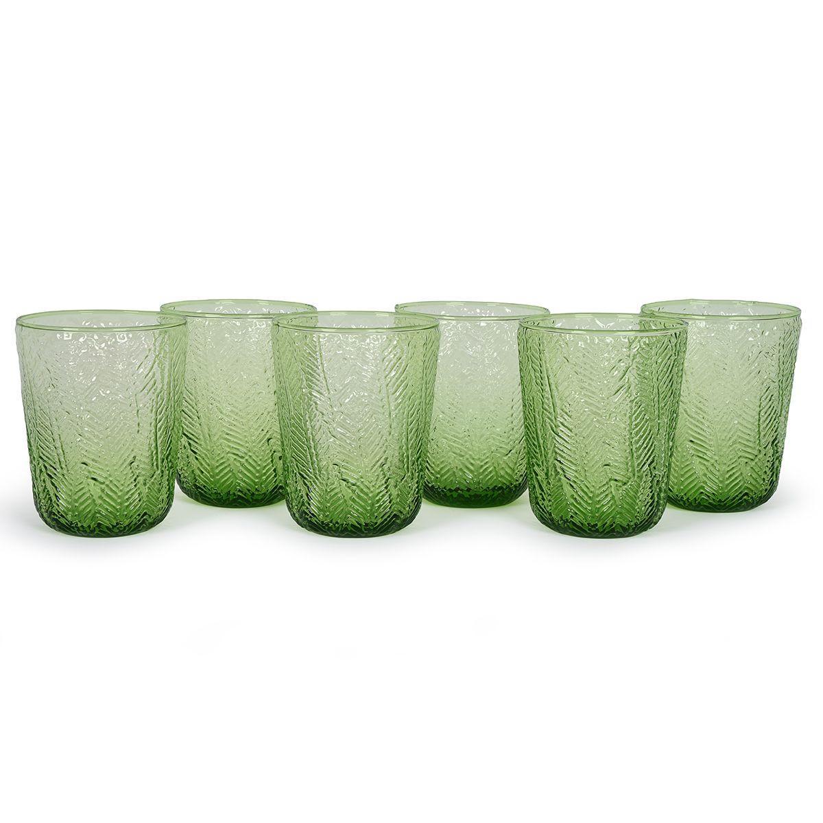 Набор зеленых стаканов из стекла, 6 шт. Montego