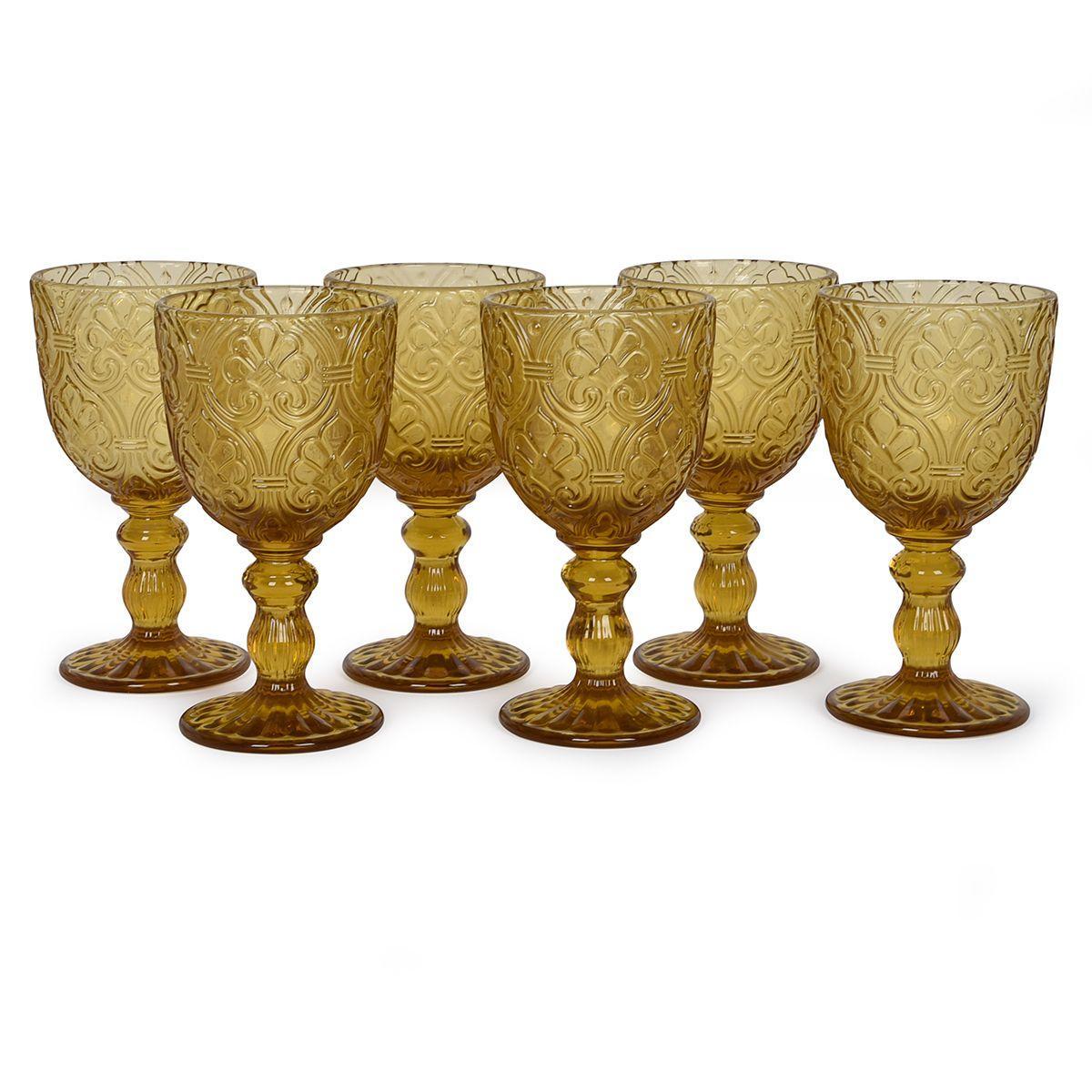 Набор стеклянных бокалов янтарного цвета, 6 шт. Corinto