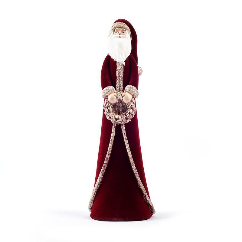 "Статуэтка красного цвета ""Санта с венком"" Maison"
