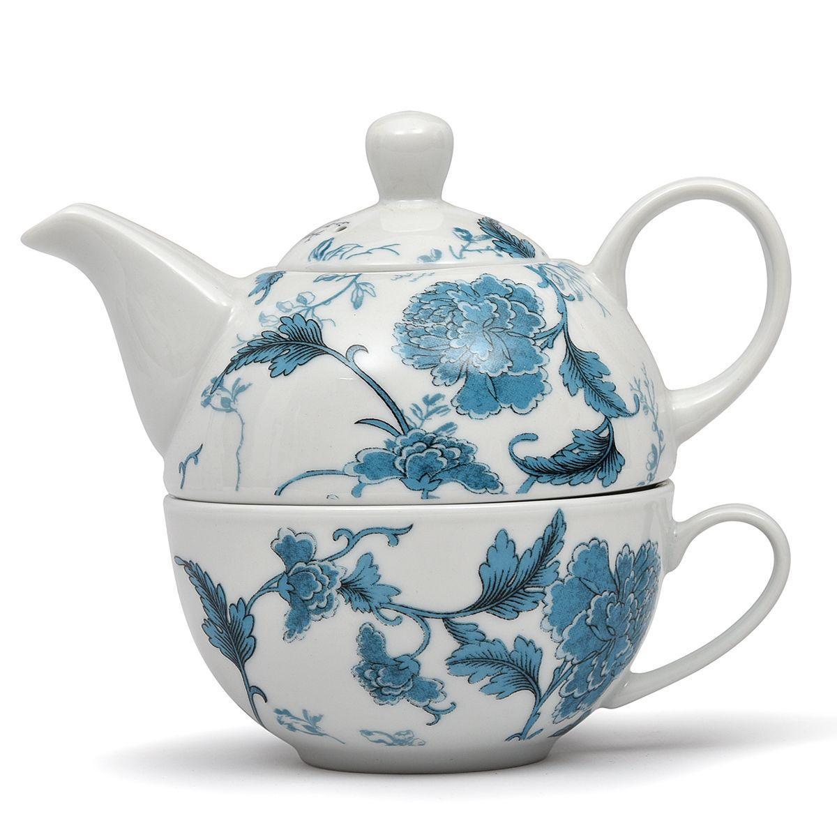 """Чайный набор из чашки и заварника """"Лазурный дракон"""""""